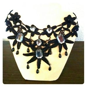 Choker Necklace with Bling